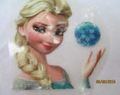 1 Frozen Inspired  Iron On Applique   Elsa   Frozen  Glittery