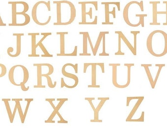 """10"""" Wooden  Block Letter, Wooden Letter, Unfinished Wooden Letter, Wreath Accent-CLOSEOUT 1/2 PRICE"""