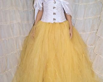 Shimmer Gold Formal Bridal Bride skirt, floor length tulle tutu Adult ALL sizes MTCoffinz
