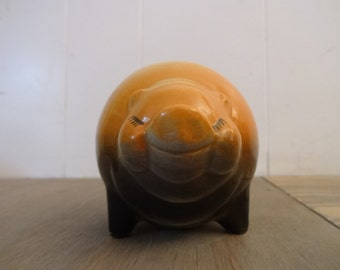 Vintage Shawnee Pig Planter..USA Pottery..Shawnee Pottery..Chubby Pig..Smiling Pig..American Pottery..Pig Gift..Animal Planter..1950's Decor