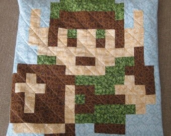 Link Quilted Pillow Cover - Free USA shipping!