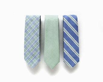 Mismatched Wedding Neckties & Pocket Square - Wedding Ties - Wedding Neckties with (Optional) Matching Pocket Squares - Wedding Neckties