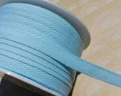 "Light Blue Twill Tape Trim - Sewing Bunting Shipping Packaging - 3/8"" Wide - 10 Yards"