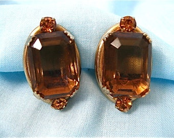 Vintage Topaz Crystal Earrings