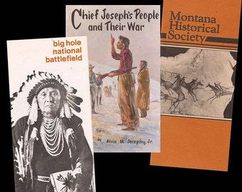 Vintage Montana Indian Historical Site Brochures