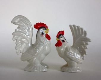 Vintage Rooster Figurines