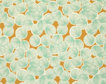 Joel Dewberry Fabric by the Yard - Botanique - Lily Pads in Butternut - Quilter's Cotton