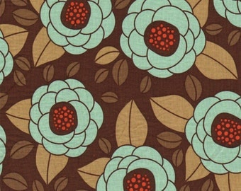 Fabric Listing - Joel Dewberry Aviary 2 - Bloom in Bark - Joel Dewberry Fabric by the Yard - Quilter's Cotton