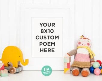 8x10 Custom Poem/Verse Print - You choose your favorite custom poem/verse