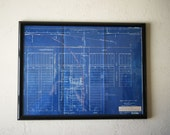 Vintage Railroad Blueprint Map | 1935 Texas Louisiana Southern Pacific Lines | T & N.O. R.R.| Hidalgo County Citrus Growers | Industrial Art