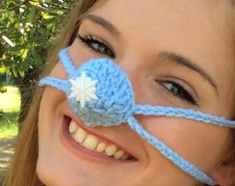 Snowflake Nose Warmer, Nose Cozy, Crochet, Frozen Nose, Tween, Teen, Adult, Gag Gift, Gift for Her, Outdoor Activies, Sporting Events, Snow