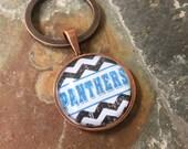 Carolina Panthers - NFL glass keychain