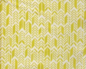 Andover Fabrics Sun Print Feathers in Lime - End of Bolt - Last 28 Inches