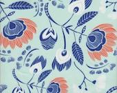Art Gallery Fabrics Tule Flora's Oasis Naranja - Half Yard