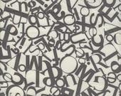 Windham Fabrics Collage Alphabet in Cream - Half Yard
