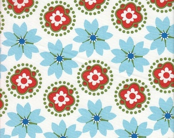 Anthology Fabrics Mod Charm Floral Stripe - Half Yard