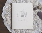 My favorite book | Love card made with tissue paper pages and recycled cotton paper