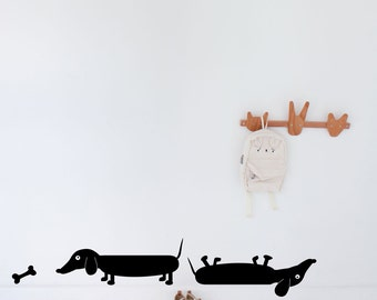 SALE  Sausage Dogs - Wall Decal (from 50 down to 40)