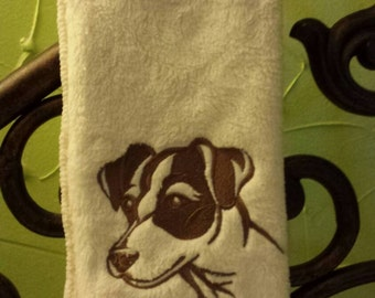 Jack Russell terrier Embroidered  decorative hand Towel