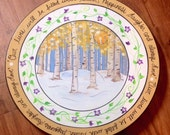 Painted Lazy Susan // Custom Painted lazy Susan // Painted Turntable