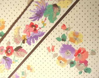 Vintage 1932 Wallpaper Sample and Border - Bequeath