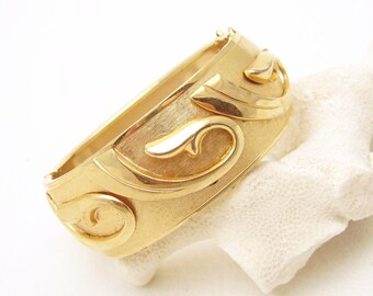 Wide Bangle Bracelet Vintage Mid Century Jewelry B6780