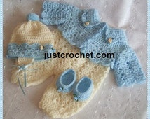 Short jacket outfit Baby Crochet Pattern (DOWNLOAD) 54