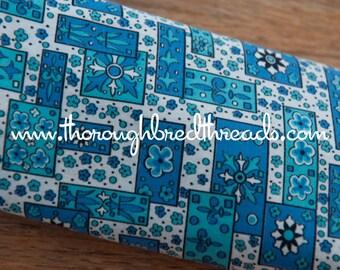 Mod Mid Century Geometric  - Vintage Fabric 50s 60s 37 in wide New Old Stock Atomic Folk Art