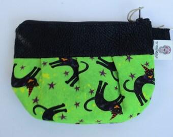 Witch Cat - Pouch - Witch Cat Zip Pouch - Zip Pouch - Toke Bag