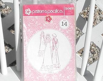 Patterns Pacifica Muumuu Sewing Pattern Women Size 14 Vintage Uncut Long Dress Sewing Pattern
