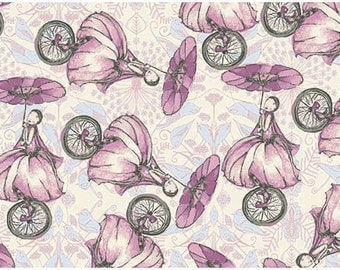 Tina Givens Fabric Unicycle Play in Candy from the Riddles and Rhymes Collection 1/2 Yard