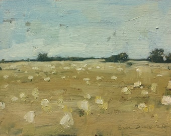 Freckled Field | Original Oil Painting | 4.75 x 6.75