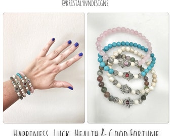 Happiness, Luck, Health and Good Fortune Bracelets