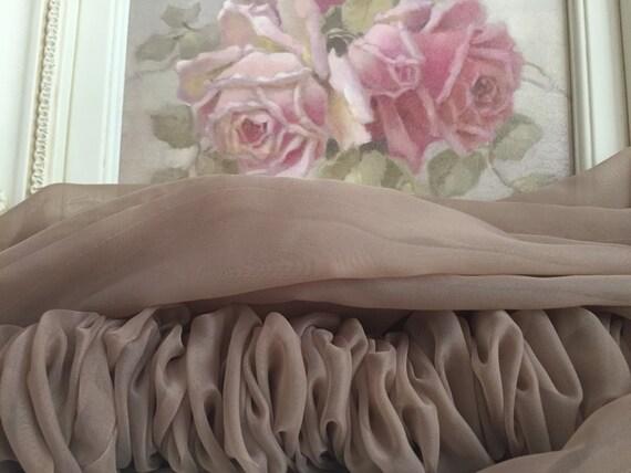 camel sheer organza chandelier cover paris apt cord cover. Black Bedroom Furniture Sets. Home Design Ideas