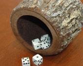 Wood dice cup - Black Walnut
