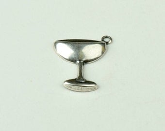 Champagne glass Charm, silver plate  6 each 15159