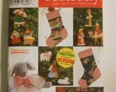 Holiday Ornaments Treeskirt Stocking Lamb Sewing Pattern Simplicity 7421 UNCUT