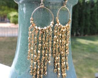 Dripping in Gold Earrings
