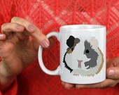 Guinea Pig Lover Two Sided Illustration Coffee Mug 11 oz or 15 oz Ceramic Cup Pop Culture - Pets Animal Lovers, Tiny