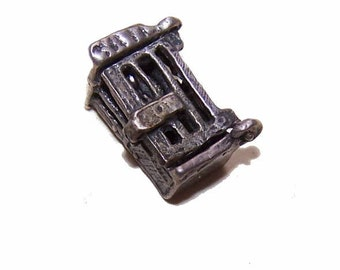 Vintage STERLING SILVER Mechanical Charm - Man in Jail