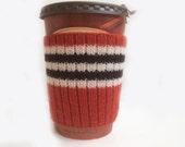 Chicago Blackhawks Hand Knit Coffee Cup Cozy Mug Sleeve