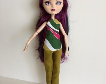 Handmade Monster High Ever After High Clothes Top Pants
