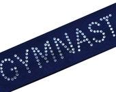 GYMNAST Rhinestone Cotton Stretch Gymnastics Headband - Funny Girl Designs