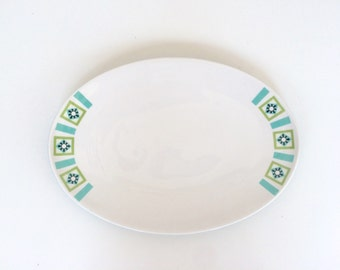 Ben Seibel Informal Iriquois Bombay Green Small Oval Serving Platter