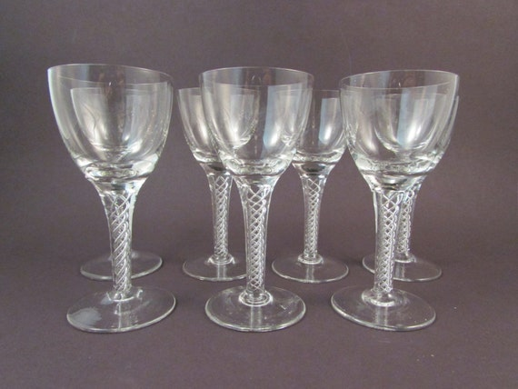Crystal Cordial Stem Glasses