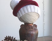 Unisex Baby Santa Hat, Baby Santa Beanie, Santa Hat with Pompom, Santa Hat Photo Prop, Baby Shower Gift