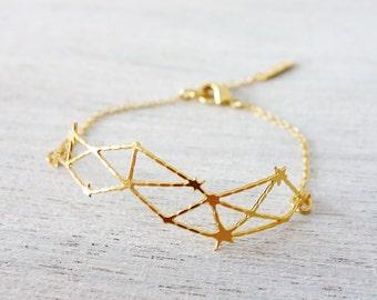 Constellation Bracelet, star bracelet, geometric bracelet, cosmic jewelry, stackable bracelets