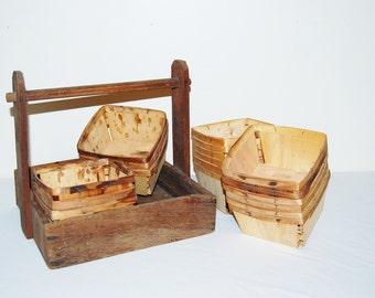 Vintage Rustic Market Fresh Collection Picking Baskets