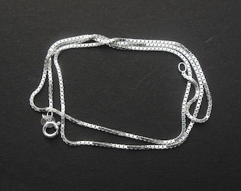 Sterling silver chain - box chain - 925 silver chain - 18 inches chain - supplies