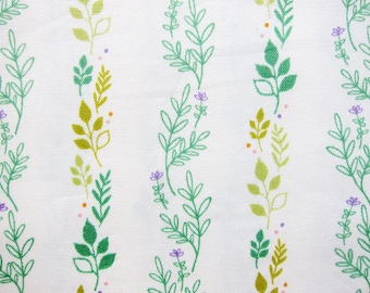 Japanese Fabric - Green Garland- Fat Quarter - Cosmo Textiles LIMITED YARDAGE